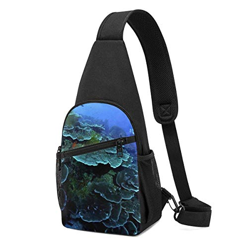 WILHJGH Sling Pack Bag Seabed Landscape Chest Bag Crossbody Backpack Shoulder Pack Gym Daypack for Men