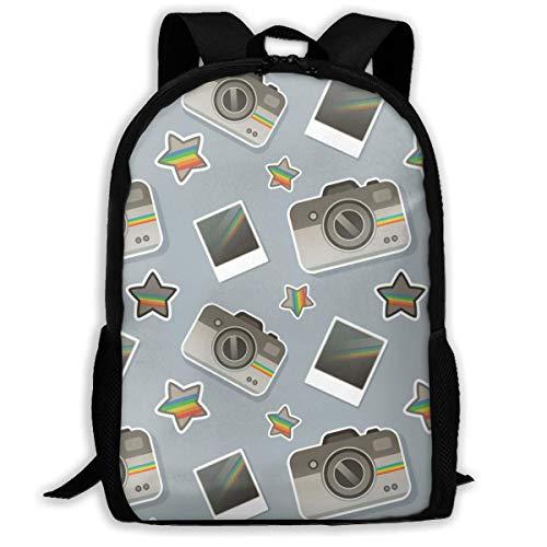 Lawenp Camera Backpack School Bag, 3D Print Lightweight Bookbag Travel Daypack for Boys & Girls