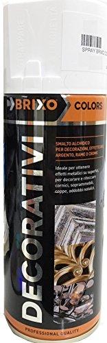 Vernice Spray Effetto Cromo Decorativo Brixo 400Milliliter