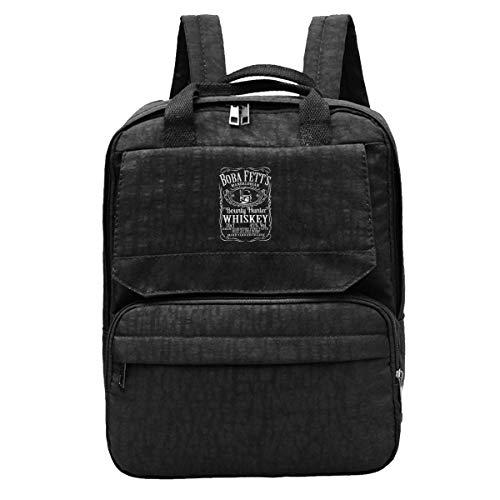 DJNGN Travel Backpack Boba Fett Whiskey Mandalorian Character Mashup Gym Hiking Daypack College Laptop and ebook Bag for Women & Men