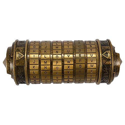 mewmewcat Caixa de presente retrô de aniversário para namorados e cadeados com código da Vinci.