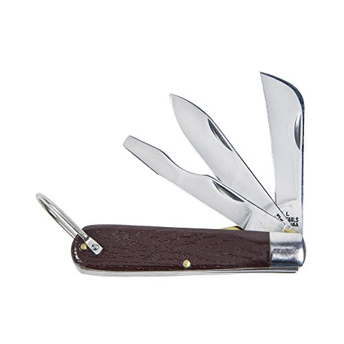Klein Tools 1550-6 3 Blade Pocket Knife with Screwdriver
