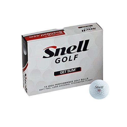 Snell Golf Get Sum Golf Balls1-Dozen White