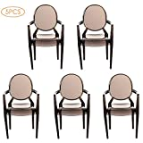 Tmtop 5PCS Miniature Armchair Plastic Chair Model Furniture for 1/6 Doll House Accessories