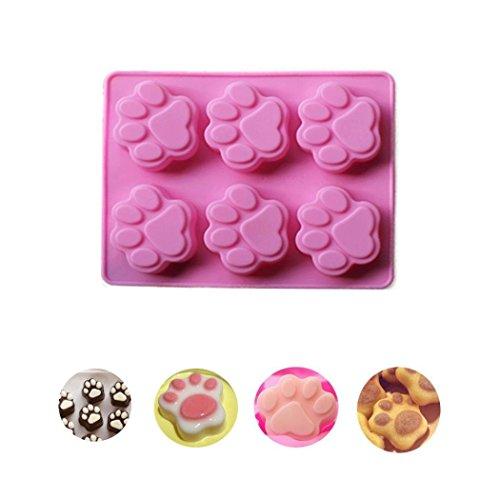 Moules à gâteau Chien Patte Moule à biscuits forme moule pour cuire les gâteaux, biscuits, muffins en silicone pour enfants 18,5 * 14 * 1.5 cm