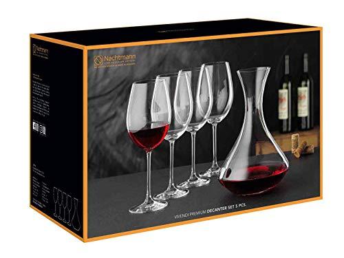 Nachtmann Vivendi Premium Weingläser mit Dekanter - Dekantierset 5-teilig