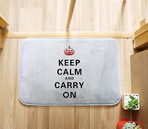 WEDZB Tapijt, houd rustig 50x80cm tapijt voor woonkamer slaapkamer rechthoekig tapijten Coral Velvet suède matten behang Cozinha Home Decoration
