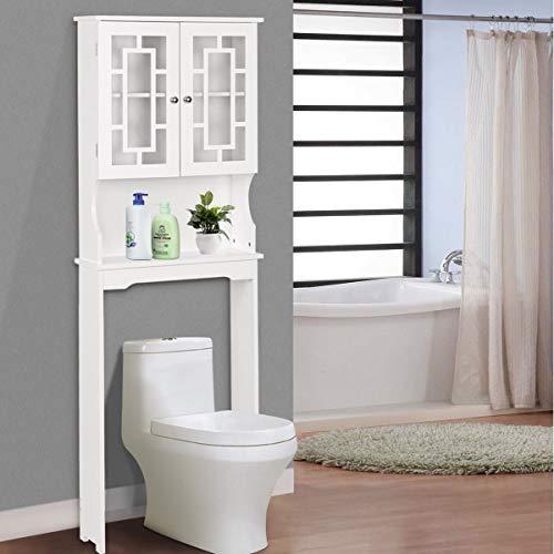 BestComfort Wooden Over The Toilet Cabinet Storage,...