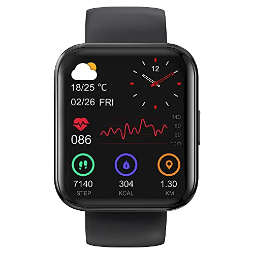 IP68 Impermeable Bluetooth Deportes Fitness Reloj Inteligente Calm Road Health Monitoring-Negro