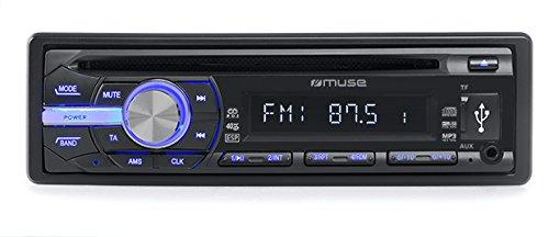 Muse M-1009 MR Kfz-Radio mit CD/MP3-Player, LCD-Display inkl. Backlight, RDS, Micro SD, USB, 4X 40 Watt, ESP, AUX-Eingang schwarz