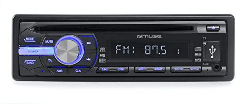Muse M-1009 MR Kfz-Radio mit CD/MP3-Player, LCD-Display inkl. Backlight, RDS, Micro SD, USB, 4X 40 Watt, ESP, AUX-Eingang schwarz