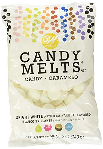 Wilton Candy Melts Flavored 12 Oz, Bright White, Vanilla,Multi-Colored