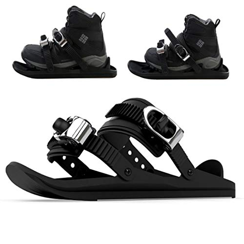 LYRAL Mini Ski Skate, Verstelbare Skiën Sled Snowboard Ski Schoenen voor Heren Vrouwen, Outdoor Sneeuw Board Ski Schoenen Wintersportuitrusting