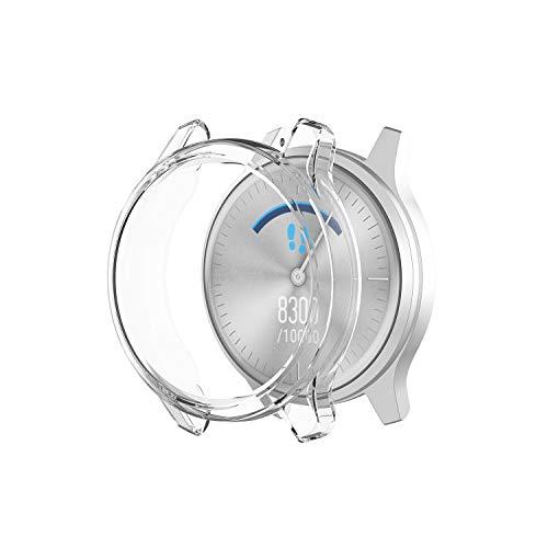 Ruentech Schutzhülle Kompatibel mit Garmin Vivomove Luxe/Vivomove Style Schutzfolie Schutzhülle Hülle TPU (klar)