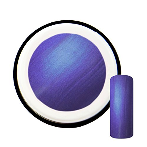 Gel UV couleur violet fluo avec effet nacré #9 - 5 ml - Fabriqué en Allemagne