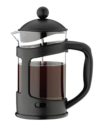 Café Ole Glass Cafetiere, Black, 3 Cup (350ml)
