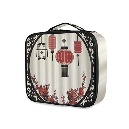 SUGARHE China Fenster orientalische Laterne Plum Blossoms Red Flower,Kosmetik Reise Kulturbeutel...