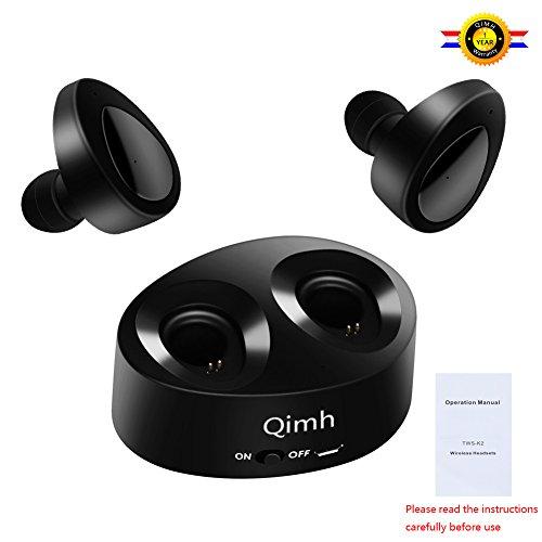 Qimh TWS Auricolare Mini Bluetooth 4.1 auricolari in ear cuffie senza fili per lo sport sweatproof stereo cuffie con auricolari...