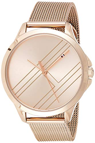 Tommy Hilfiger Womens Analoog Klassiek Quartz Horloge met Rose Goud Band 1781963