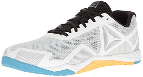 Reebok Herren Ros Workout TR 2.0 Cross-Trainer, White/Black/Blue Beam/Fir, 43 EU