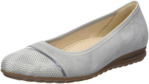 Gabor Shoes Gabor Shoes Damen Comfort Sport Geschlossene Ballerinas, Grau (Light Grey/Argento), 36 EU