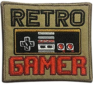 Video Games Retro Gamer - Sew Iron on, Embroidered Original Artwork - Patch - 3.3
