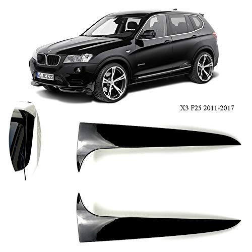 D28JD Heckspoiler Flanke Heckklappe Kofferraum ABS Material Paste Typ Car Styling für B-MW X3 F25 2011-2017 Schwarz