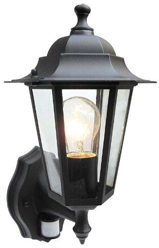 Bright Electrical Laternen mit 4-seitigen Bewegungsmeldern schwarz