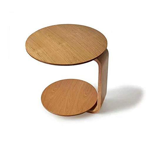 JIE Moderne minimalistische ronde magazijntafel, slaapkamer-nachtkastje, sofa-theetafel, afneembare mini salontafel van massief hout, oorspronkelijke H, eenheidsmaat