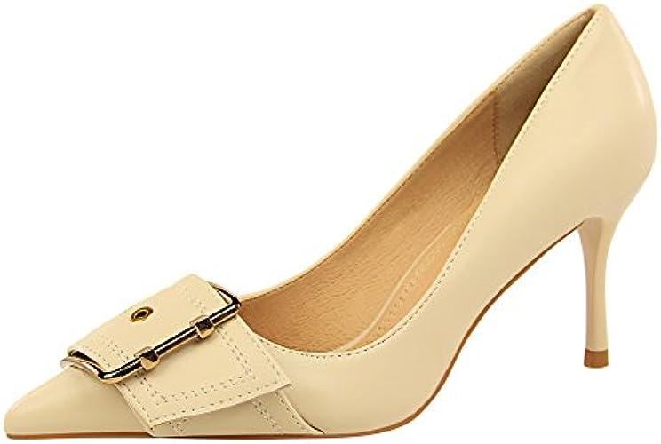 FLYRCX Talons Hauts tempéraHommest de la Mode européenne AHommesde avec la Bouche Peu Profonde Chaussures Pointues Les Les Les dames Chaussures de Travail Confortables