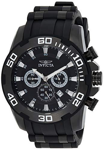 Invicta Men's Pro Diver Stainless Steel Quartz Watch with Silicone Strap, Black, 26 (Model: 22338)
