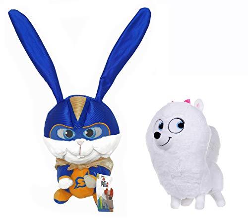 Secret Life Of Pets 2 - 25cm 10' - Super Snowball & Gidget - Super Soft Gift Quality Plush - S3