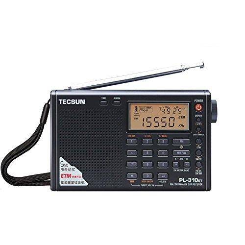 TECSUN PL-310ET ポレットラジオ 高感度ラジオ 短波ラジオ 高感度ラジオ FM LWステレオ世界帯域ラジオ BCL ...