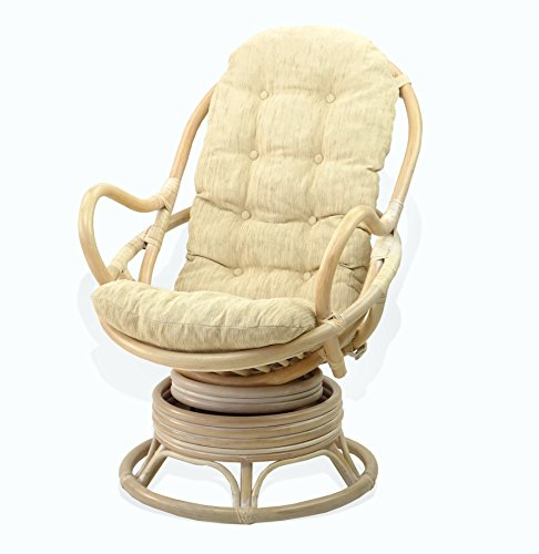 Lounge Swivel Rocking Java Chair Rattan Wicker Handmade with...