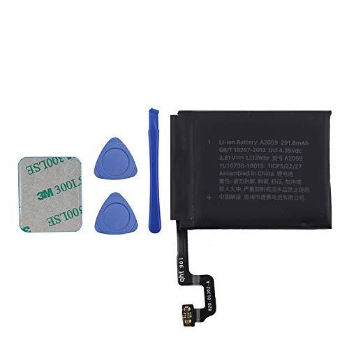 Vvsialeek A2059 Batería compatible para Watch Series 4 iWatch4 S4 44 mm GPS + LTE Cellular versión A2059 con kit de herramientas
