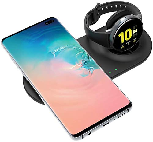 SPGUARD Ladegerät Kompatibel mit Samsung Ladestation Galaxy Watch Ladestation Samsung Galaxy Watch 3 Active 2,Drahtloses Ladegerät für Galaxy Note20 Ultra/Note 10/S20+/Galaxy Buds+/Buds Live