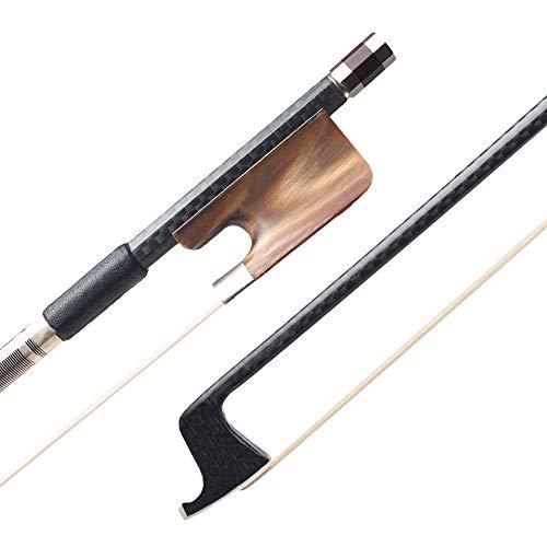 Muslady 15/16 inch Viola Bow goed uitgebalanceerd kikker doosje haar carbonvezel ronde staaf OX bot violla onderdelen accessoires
