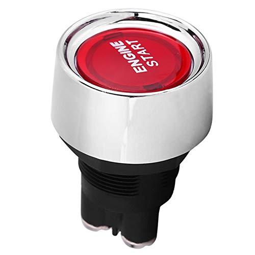 LHaoFY AUTO PIEZAS COMPECTOR DE COCHE 12V COCHE ROJO/AZUL Illuminated Motor Interruptor Interruptor de arranque Pulsador Starter 22mm (Color : Red)