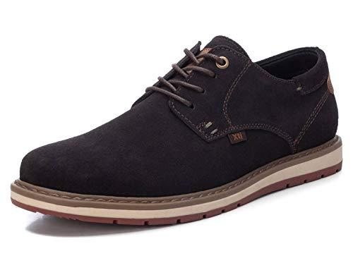 XTI - Zapato Oxford para Hombre - Cierre con Cordones - Color Marron - Talla 39