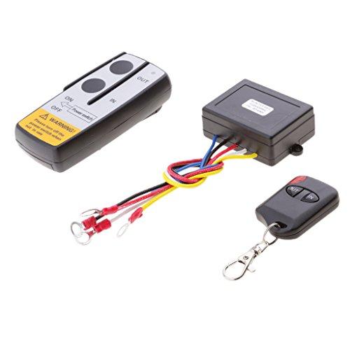 prasku Kit de Control Remoto de Cabrestante Inalámbrico de 12V / 24V para Automóvil ATV SUV KLS-998X