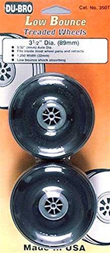 Du-Bro 350T 3-1/2' Diameter Treaded Surface Wheel (2-Pack)