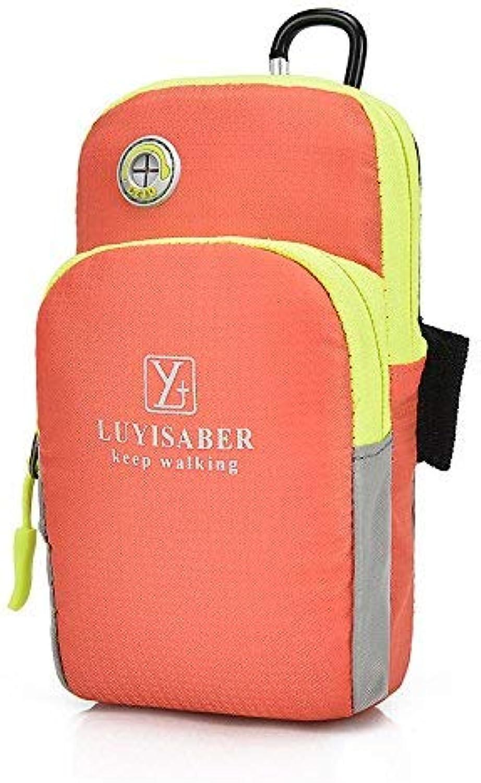 Lounayy Outdoor Sport Bewegung Mode Wandern Der Stylisch Arme Paket Paket Und Running Handy Arm Arm Sleeve Arm Mit Handgelenk Tasche (Farbe   Orange, Größe   One Größe)