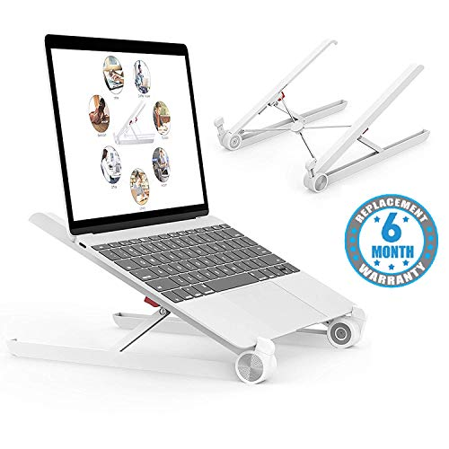 Voroly Foldable Height Adjustable Laptop Stand Eye-Level Ergonomic Laptop Riser for Notebook...