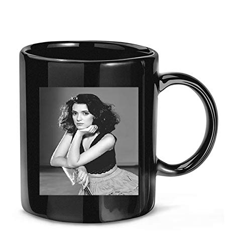 Reindeer #Winona #Ryder #Beautiful #Young Pose Seated in Black Top Coffee Mug for Women and Men Tea Cups