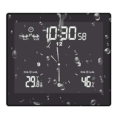 NA/ Marginf Thermomètre hygromètre numérique pour salle de bain avec minuteur