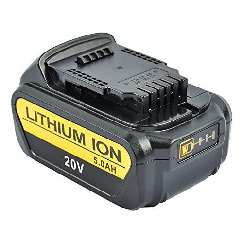 Tecmana 20V 5,0Ah Batería compatible con Dewalt DCB200 DCB203 DCB204 DCD780 DCD785 DCD795 DCF885 DCF895 DCS380 DCS391