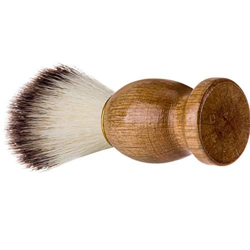 wufeng Fundación Hombres Boyt Facial Pelo de la Barba cerda Suave brocha de Afeitar Llama Mango de Madera Herramienta de Aseo