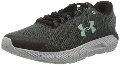 Under Armour Charged Rogue 2 Twist, Zapatillas para Correr Mujer, Negro Blanco Esmalte Azul 001, 38 EU