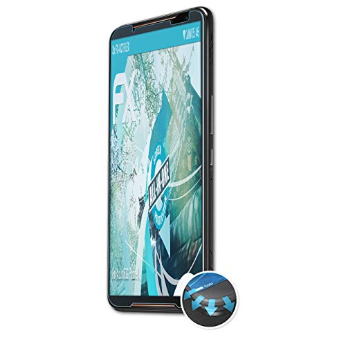 atFolix Schutzfolie kompatibel mit Asus ROG Phone II Folie, ultraklare & Flexible FX Bildschirmschutzfolie (3X)
