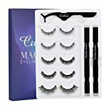 Magnetic Eyelashes False Lahes with Magnetic Eyeliner Pen 5 Pairs Magnetic Eyelash (Magnetic Eyeliner Pen Kit)